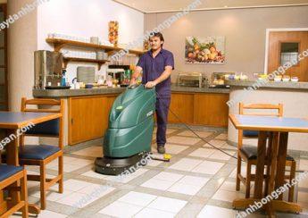 Máy chà sàn liên hợp sử dụng điện hoạt động cả ngày mà không cần lo lắng đến điện năng