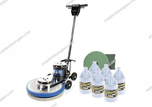 Sử dụng hóa chất máy đánh bóng sàn chuyên dụng