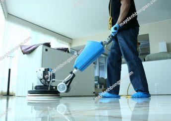 Sử dụng máy đánh bóng sàn bảo dưỡng nền đá granite