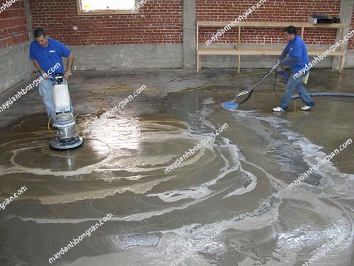 Đánh bóng sàn bê tông đúng quy trình để sàn sáng đẹp và bền bỉ