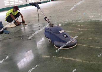 Máy đánh bóng sàn bê tông được ứng dụng hiệu quả trong thi công mặt sàn nhà xưởng