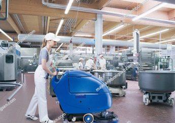 Sử dụng máy chà sàn cho xưởng chế biến thức ăn chăn nuôi