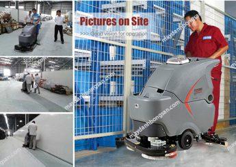Sử dụng máy chà sàn liên hợp cho nhà máy chế biến thủy hải sản