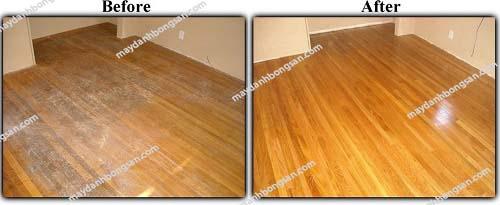 Để sàn luôn bền và sáng đẹp nên đánh bóng sàn 2 năm/lần